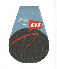 SAS Scandinavian airlines baggage label ,  mint, original