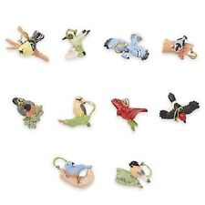 LENOX ~ 10 GARDEN BIRDS Miniature ORNAMENTS  ~ Spring ~ NIB  NO TREE ~ Free Ship