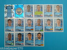 Topps Champions League 2016-17 2017 Team Manchester City 2016 2017 completo