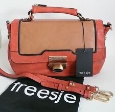 Treesje Jackson Convertible Shoulder Bag Multi-Color Leather Removable Strap NWT