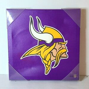 Minnesota Vikings NFL Logo Canvas Wall Art 12x12 Purple Football Memorabilia