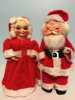 Vintage Santa And Mrs Claus Christmas Decoration Holiday Dish Soap Bottle