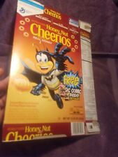 Honey Nut Cheerios Empty Box DC Comic Promo Batman Justice League General Mills