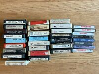 Lot of 24 8-Track Tapes Gene Tracy Commodores Dan Fogelberg Carl Perkins