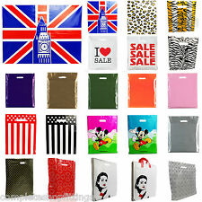 More details for plastic carrier bag - modern printed strong gift shopping bags- all sizes/colors