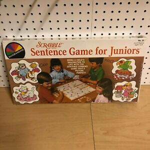 Scrabble Sentence Game for Juniors Selchow & Righter 1983 SEALED NEW