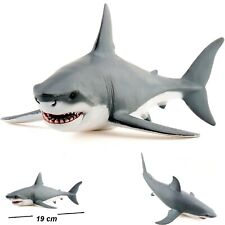 Great White Shark Bath Toy Kids Bathtime Painted Figurine Durable Toy Shark