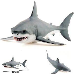 Great White Shark Bath Toy Kids Bathtime Painted Figurine Durable Toy Shark