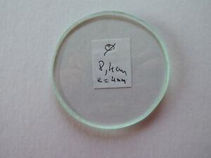 Ancien verre  plat  de pendule horloge reliquaire (meulé artisanalement)
