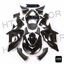 Glossy Black ABS Plastic Fairings Bodywork for 2006-2007 Kawasaki Ninja ZX10R