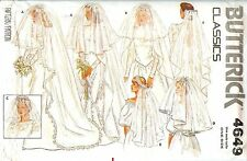 Butterick 4649 Misses CLASSIC VEILS Wedding Bridal headpiece pattern UNCUT FF