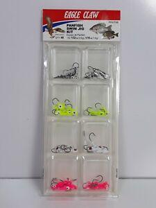 Eagle Claw Panfish 48 Piece Fishing Swim Jig Kit Size 1/32 oz 1/16oz