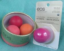 4 EOS Rachel Roy Lip Balms Strawberry Kiwi ORANGE BLOSSOM Grapefruit + WILDBERRY