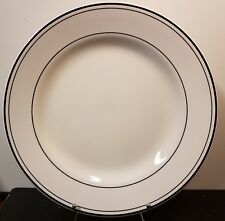 "Pottery Barn BISTRO BLACK Round Serving platter, 14 3/4"", Excellent"
