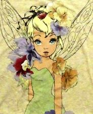 NEW! Disney Tinkerbell Flower Fairy Womens Top Sweatshirt Shirt! Big Huge Print!