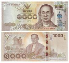 THAILAND 1000 1.000 BAHT 2017 UNC P 134