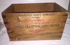 Western World Champion Ammunition Wooden Advertising Box Adv. All 4 Sides