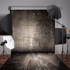 5x7FT Vinyl Shabby Wall Wooden Floor Photo Backdrops Photography Background US