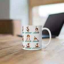 Yoga Dog Mug Beagle Yoga Poses Coffee Mugs Funny Dogs gift for dog lover
