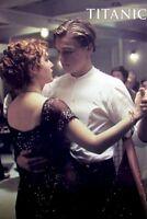 TITANIC ~ DANCING 27x39 MOVIE POSTER Leonardo DiCaprio Kate Winslet Cameron