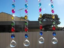 4 x suncatchers hanging mobile crystal beads outdoor fairy garden mothers day