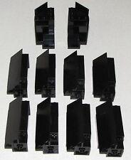 LEGO LOT OF 10 BLACK CASTLE WALLS CORNER PANELS PIECES