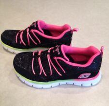 "NEW~~SKECHERS ""Loving Life"" with Memory Foam Black Girl's Sneakers~~Size 12"