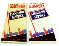 Vintage STANDARD OIL SERVICE Advertising ROAD HIGHWAY MAPS Lot