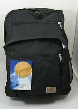 """New Everest Black School Backpack with Laptop Sleeve 17"""" Full Size Bag  Nice!"""