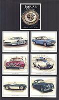 CIGARETTE/TRADE/CARDS.Golden Era Motor Cars.JAGUAR CLASSIC 3rd.(1997).(Set of 6)
