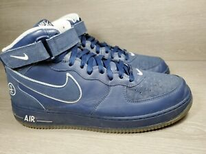 NIKE AIR FORCE 1 MID 306352-442 Mens Size 14 Blue Basketball Shoe 2005 (b8