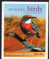 2001 AUSTRALIAN STAMP BOOKLET DESERT BIRDS 10 x 45c STAMPS MUH