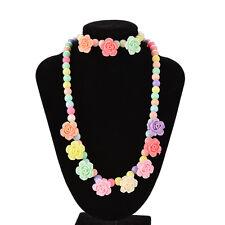Coloré perles collier bracelet ensemble bébé filles bijoux bon cadeau rose