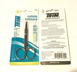 2 Packs TRIM cuticle scissors # 10300 stainless steel + 1 nail clipper