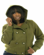 NWT BABY PHAT DB double Breasted button green  HOODY BOMBER JACKET WOOL COAT  M
