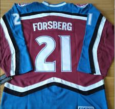 Avalanche Peter Forsberg Jersey M, L, XL, 2XL,3XL