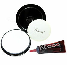 Laval White Face Powder & Fake Blood Vampire Zombie Halloween Makeup Set Kit