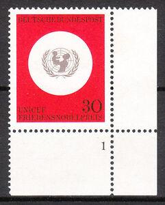 BRD 1966 Mi. Nr. 527 Postfrisch Eckrand 4 Formnummer 1 TOP!!! (9625)