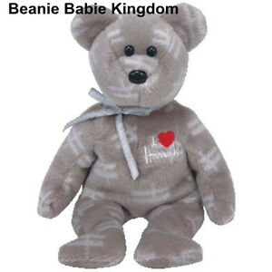 TY BEANIE BABY * SHOOTING STAR * GREY & SILVER HARRODS UK EXCL TEDDY BEAR RARE