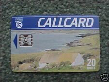 1990 Telecom Eireann Callcard Cottage Silver Chip USED