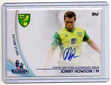 JONNY HOWSON Norwich City 2013 Topps Premier Gold #SP-JHO Auto /Autograph Card
