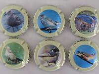 Série de 6 NOUV. caps. champ. QUATRESOLS  (oiseaux))