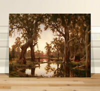"Australian Art CANVAS PRINT 24x18"" HR Johnstone Backwater of Murray River"