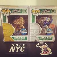 Funko Pop Stan Lee Gold Silver Metallic Chrome Edition Signed SetRare 10pc 1/10
