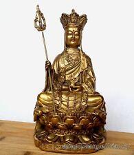 China Folk temple ancient Style Ksitigarbha Bodhisattva Old statue Chinese