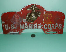 Vintage Original Auto WWII WW2 US Marine Corps USMC * 1ST MARINE DIV Tag Topper