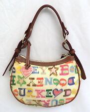 Dooney & Bourke Signature Scribble Coated Canvas Small Shoulder Bag Purse