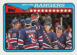 1990-91 Topps New York Rangers Team #101