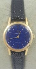 Omega De Ville Swiss Reloj de Señoras Oro Plateado Cal 625 531.001 Azul Lapislázuli