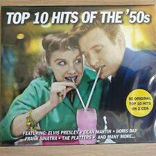 2CD NEW - TOP 10 HITS OF THE 50's - Pop Rock 50s Music 2x CD Album - 50 Songs
